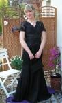 schwarzes raffiniertes Leihkleid Gr 40