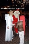 Weihnachtmann mit Engel beim Oderwitzer Weihnachtsmarkt