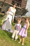 Hochzeittraum in lila/weiß