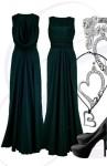 Designerkleid dunkelgrün